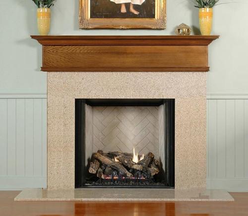 The Kilby Is A Unique Mantel Shelf That Caps A Fireplace