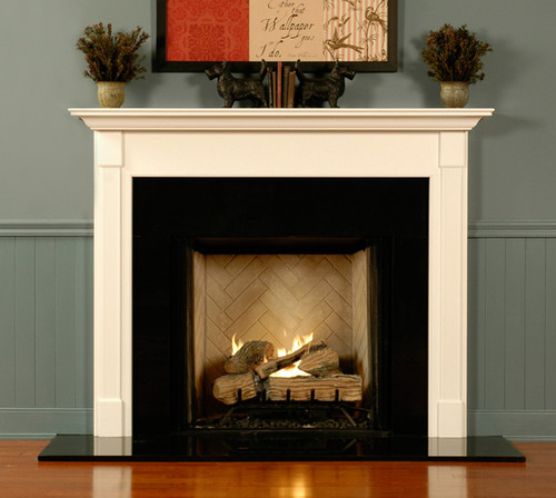 The elegant design on this fireplace mantel will compliment any home, business or church.