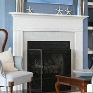 White fireplace mantel, for design inspiration