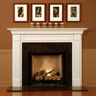 Fluted Legs and Picture Frame Molding in the Header mark the Lewisburg fireplace mantel.  Traditional styling and clean lines.