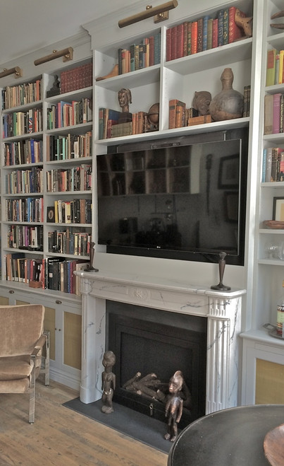 """We are very happy  with the mantel we installed from DesignTheSpace.  It was a good customer experience."""