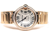 Cartier Watches - Ballon Bleu Pink Gold with Diamonds Medium
