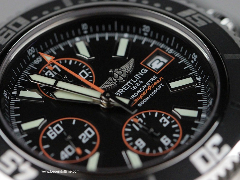 Breitling SuperOcean Chronograph Abyss Orange Swiss Mens ...