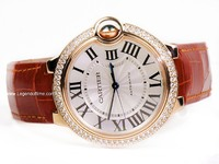 Cartier Watch - Ballon Bleu Rose Gold with Diamonds Medium