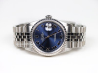 Rolex Watch- Datejust - 16220 - Blue Dial, Roman Numerals