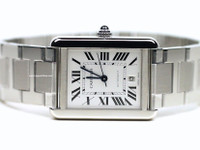 Cartier Watch - Tank Solo XL Stainless Steel Bracelet W5200028 - New - www.Legendoftime.com - Chicago Watch Center