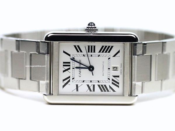 Cartier Watch - Tank Solo XL Stainless Steel Bracelet W5200028 - New - www.Legendoftime.com - Chicago Watch Center