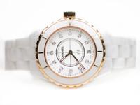 Chanel Watch - J12 White Ceramic & Rose Gold