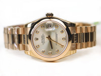 Rolex Watch- Datejust Midsize Pink Gold