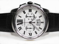 Cartier Watch - Caliber de Cartier Chronograph on a Strap