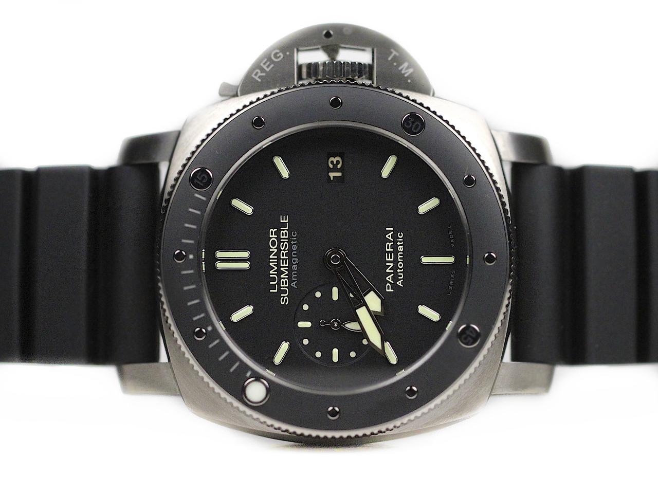 c3a033c84e2c Officine Panerai Wristwatch Luminor Submersible1950 Amagnetic 3 Days  Automatic Titanium Ref PAM00389 -- www.legendoftime.com