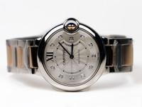 Cartier Watch - Ballon Bleu Medium Steel and Pink Gold