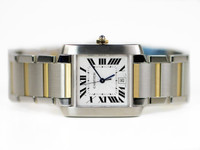 Cartier Watch - Tank Française Large Auto Steel & Gold