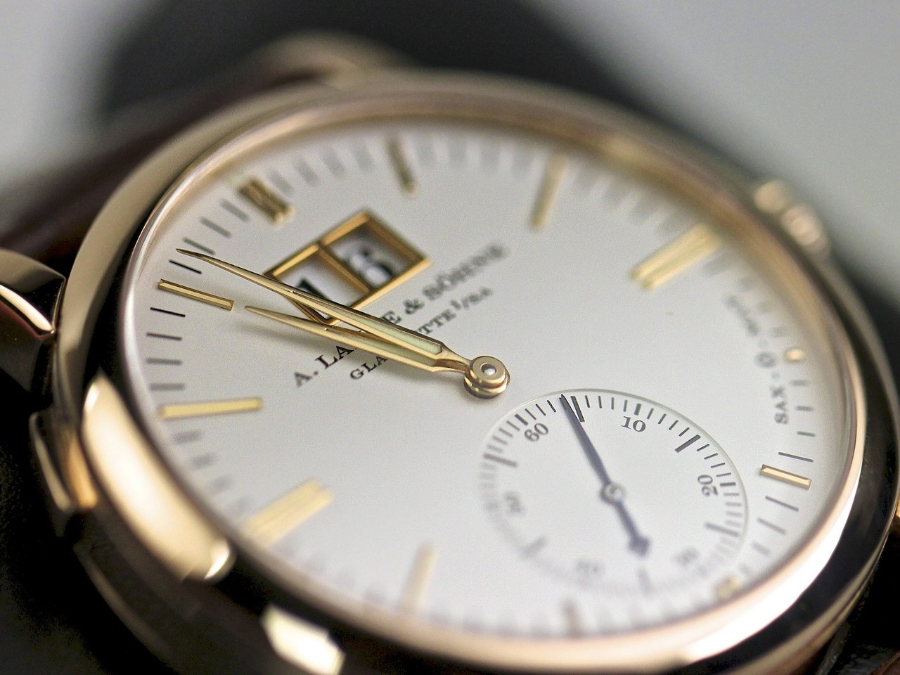 A Lange Amp Sohne Watch Complicated Langematik Rose Gold 308