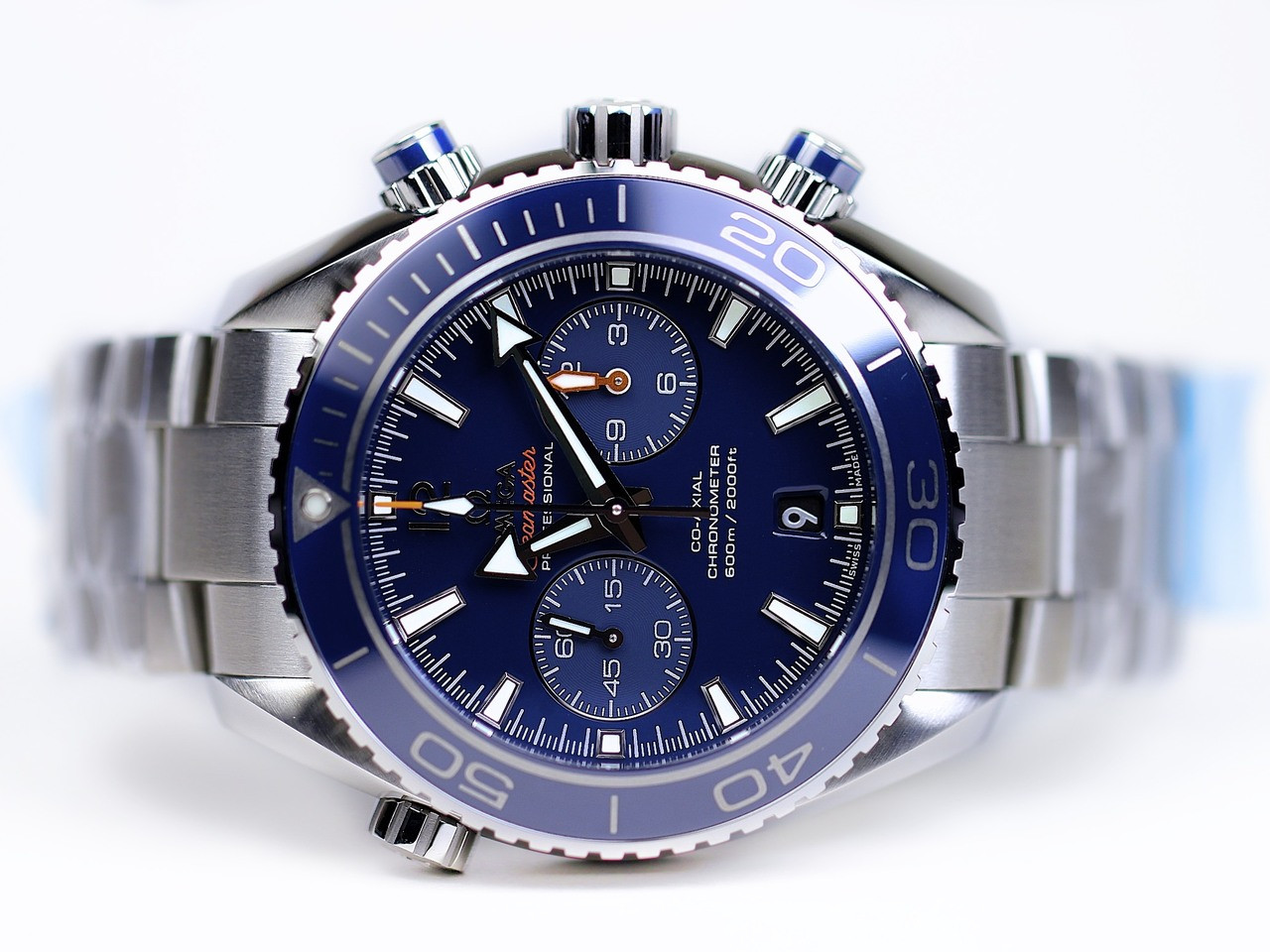 Omega Seamaster Planet Ocean Chronograph 600 M Co-Axial 42mm Titanium Mens  Swiss Watch 5d6097cbfa1