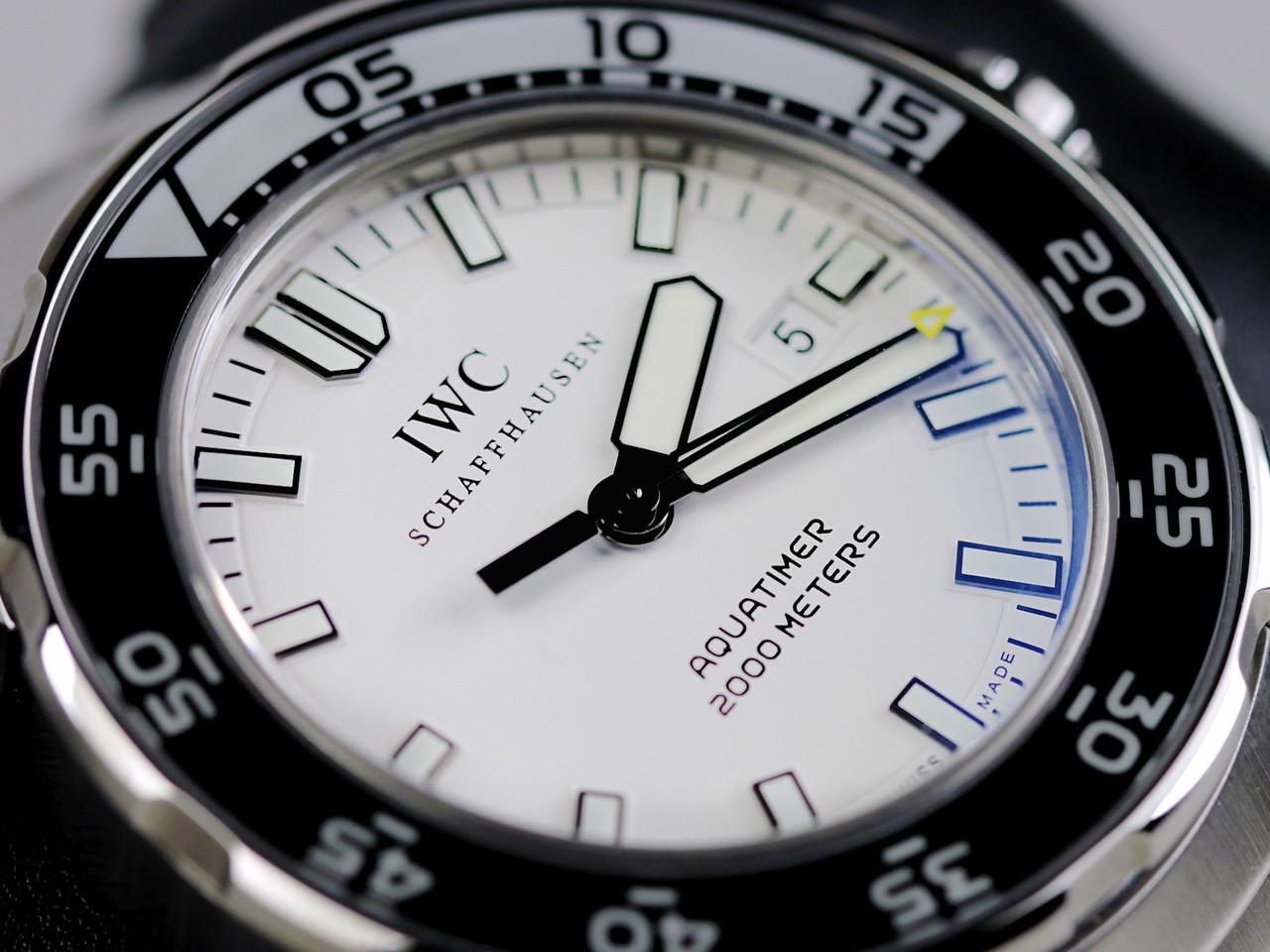 Dial & Bezel Detail - IWC Watch - Aquatimer 2000 Automatic IW356809 - www.Legendoftime.com - Chicago Watch Center
