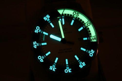 Luminous Dial & Bezel - IWC Watch - Aquatimer 2000 Automatic IW356809 - www.Legendoftime.com - Chicago Watch Center