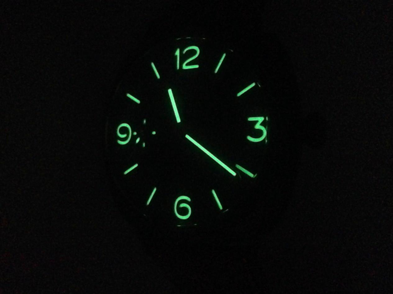 Luminous Dial Detail - New Panerai Watch - Radiomir Composite 3 Days PAM 504 www.Legendoftime.com - Chicago Watch Center