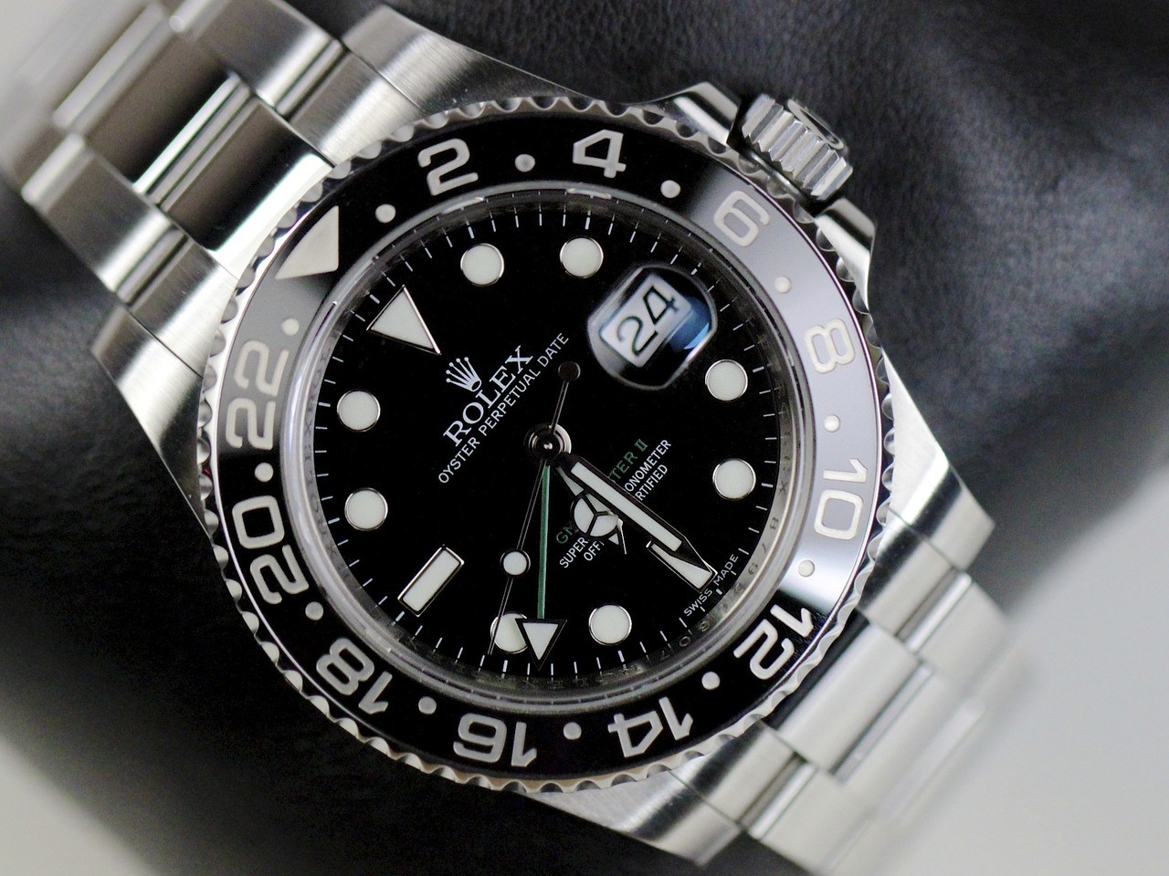 how to change time on rolex