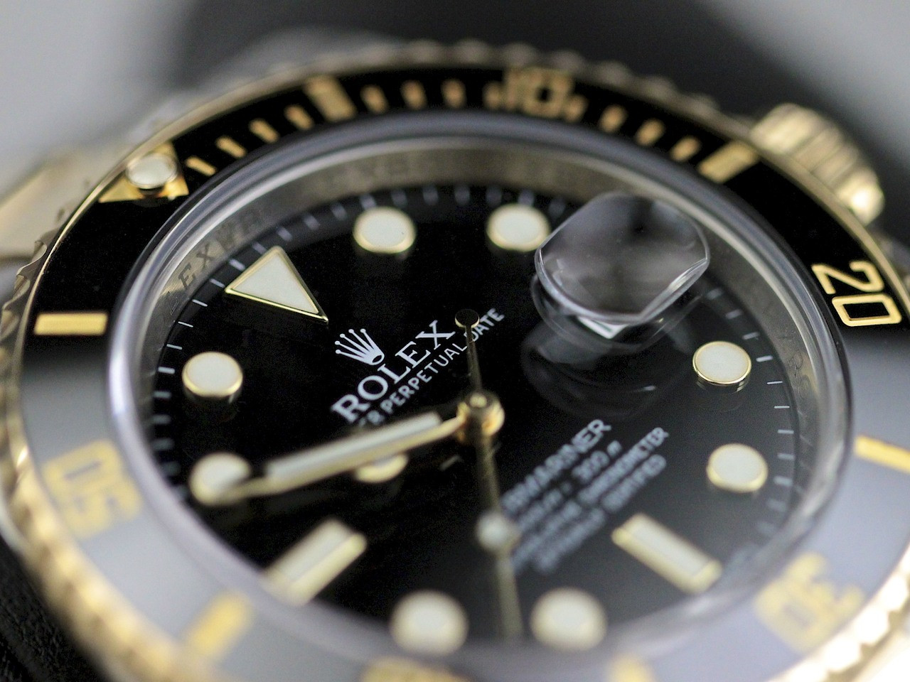 Dial Detail - Rolex Watch Submariner Steel and Gold 116613 - www. Legendoftime.com - Chicago Watch Center
