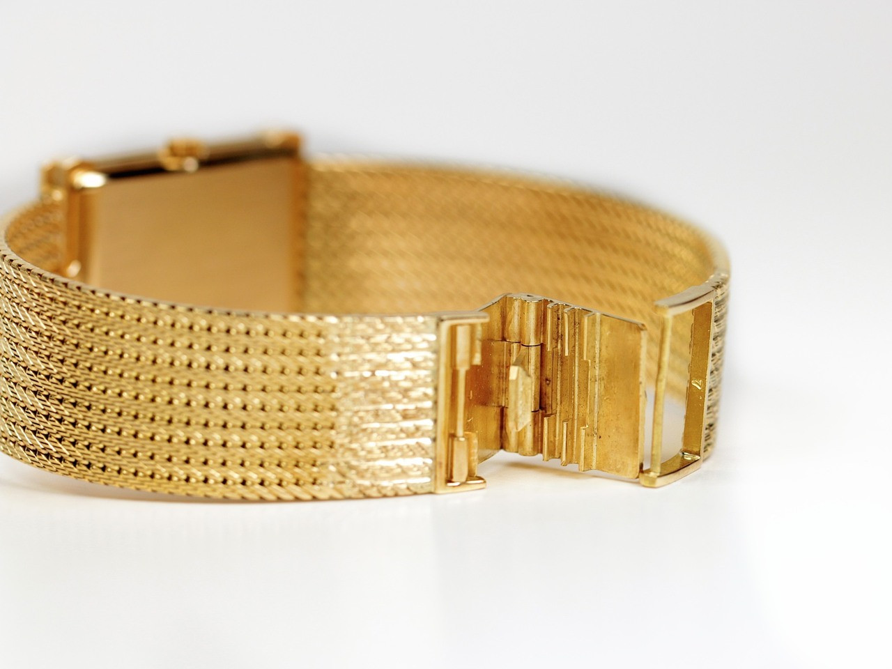 "Clasp - Vintage Patek Philippe Rectangular Gubelin Gold ""Les Grecques"" 3775 - www.Legendoftime.com - Chicago Watch Center"
