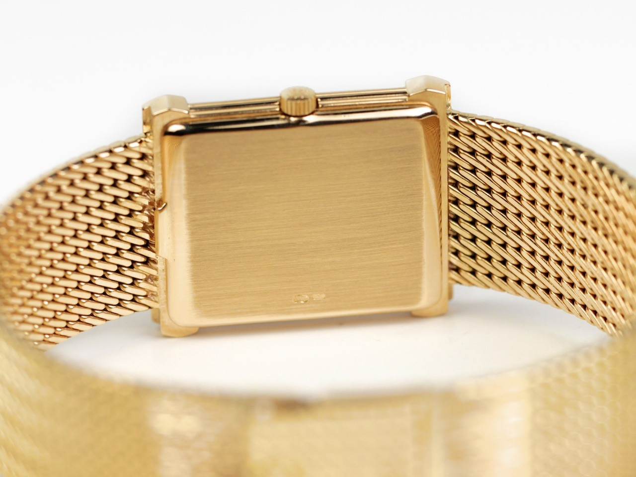 "Case Back - Vintage Patek Philippe Rectangular Gubelin Gold ""Les Grecques"" 3775 - www.Legendoftime.com - Chicago Watch Center"