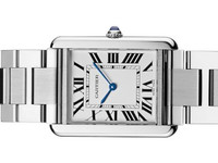 New Cartier Watch - Tank Solo Large Stainless Steel Bracelet W5200014 - www.Legendoftime.com - Chicago Watch Center