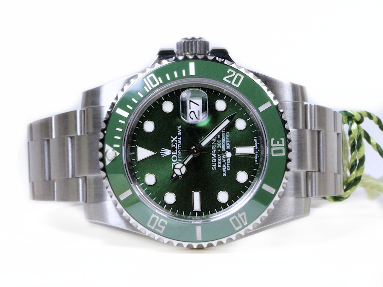 cc60f57b048 Rolex Watch - Green Steel Submariner 116610LV used for sale Legend of Time  Chicago Watch Center