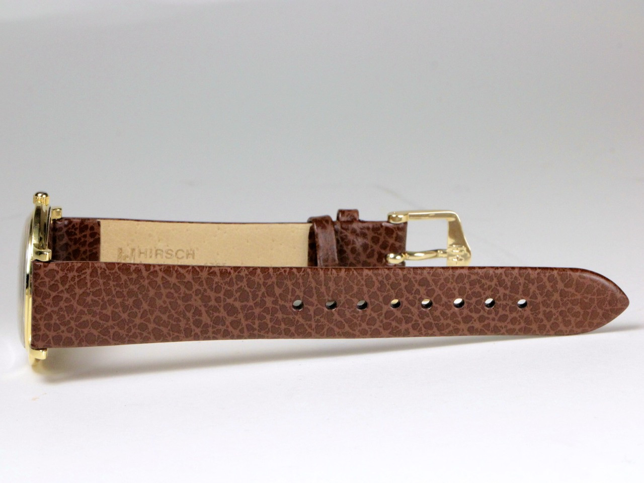 Replacement Brown Leather Strap - Omega Watch - Vintage 18K Yellow Gold 14718 - www.Legendoftime.com - Chicago Watch Center
