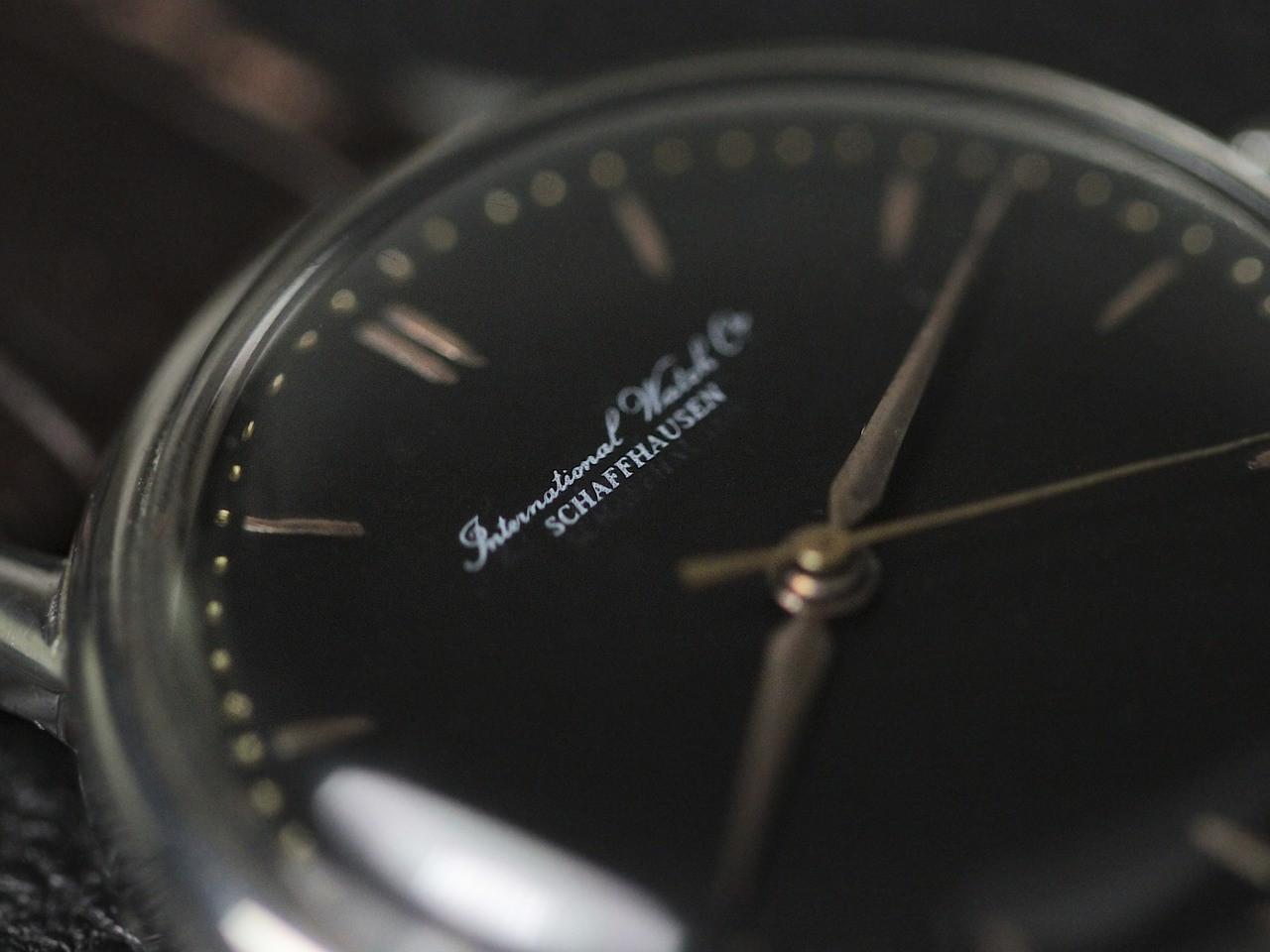 Black Dial Detail - Vintage IWC watch - Vintage Black Dial  - www.Legendoftime.com - Chicago Watch Center