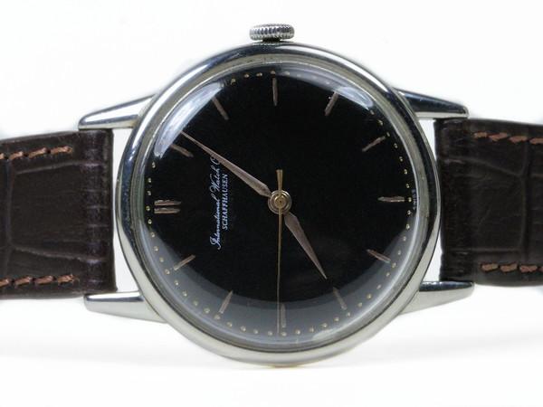 Vintage IWC watch - Vintage Black Dial  - www.Legendoftime.com - Chicago Watch Center