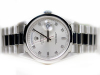 Pre-Owned Rolex Watch - Day-Date President Platinum - Domed Bezel - President - 118206 - www.Legendoftime.com - Chicago Watch Center