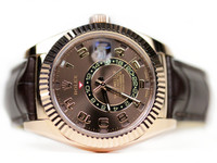 New Rolex Rose Gold Luxury Watch - Sky-Dweller Everose Gold 326135 - online www.Legendoftime.com & for sale in store Chicago Watch Center