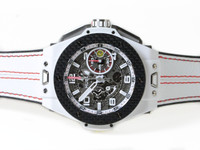 New Hublot Watch - Big Bang Ferrari White Ceramic Carbon 401.HQ.0121.VR - www.Legendoftime.com Chicago Watch Center