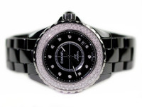 Chanel Watch - J12 Black Ceramic Automatic Diamonds