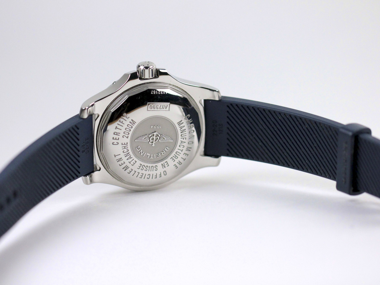 Case Back - Pre-Owned Breitling Watch - Superocean Steelfish Blue A17390 - www.Legendoftime.com - Chicago Watch Center