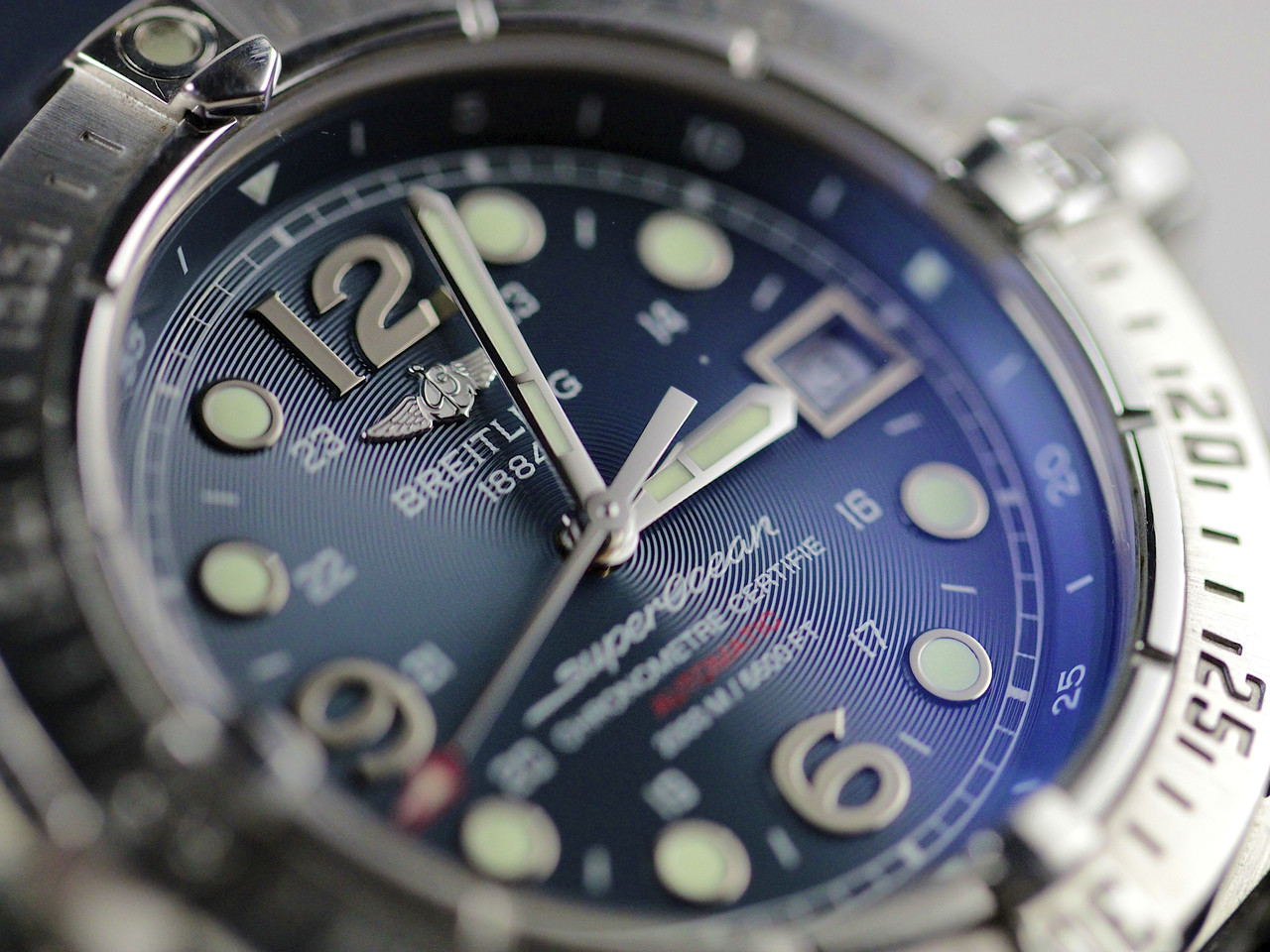 DIal - Pre-Owned Breitling Watch - Superocean Steelfish Blue A17390 - www.Legendoftime.com - Chicago Watch Center