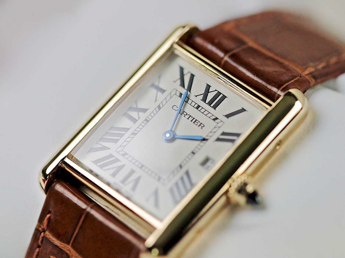 7cc46d6553e ... For sale used Classic Cartier Watch - Tank Louis Cartier Yellow Gold  W1529756 available online www ...
