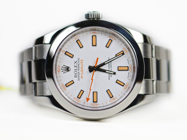 Pre-Owned Rolex Watch - Milgauss White Dial 116400 www.Legendoftime.com Chicago Watch Center