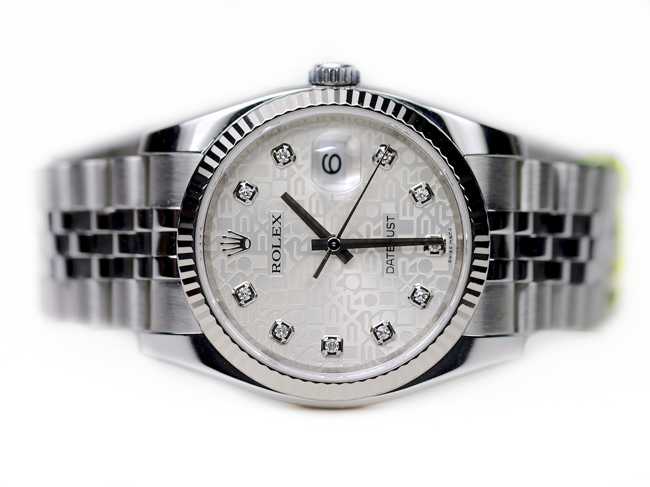 84a6f1f1627 Rolex Watch - Datejust Jubilee Diamond Dial and Jubilee Bracelet pre-owned  sale from Legend of Time Chicago Watch Center