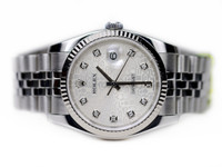 Pre- Owned - Rolex Watch - Datejust Steel Silver Jubilee Diamond Dial 116234 www.Legendoftime.com Chicago Watch Center