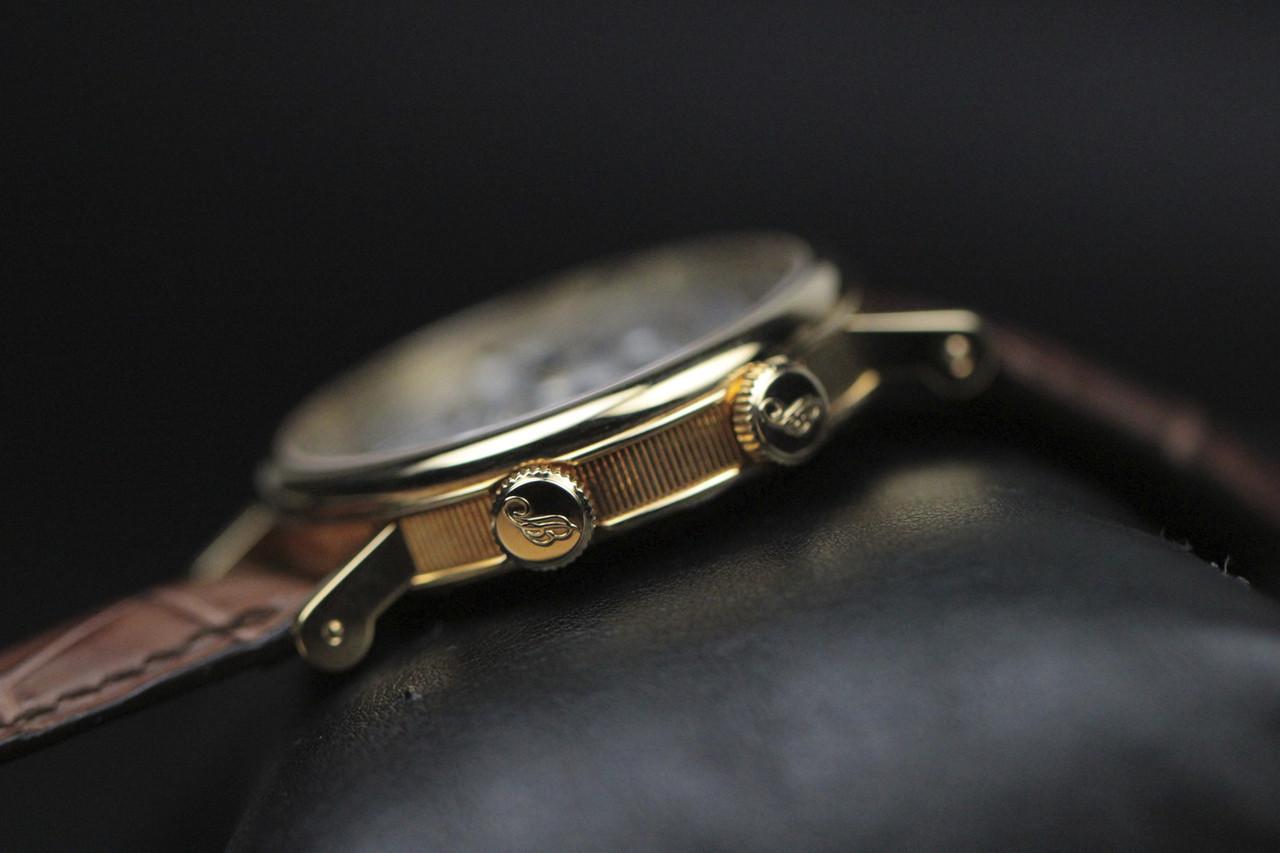 Crown  - Breguet Watch - Classique GMT Alarm Yellow Gold 5707.BA.12.9V6 - www.Legendoftime.com - Chicago Watch Center
