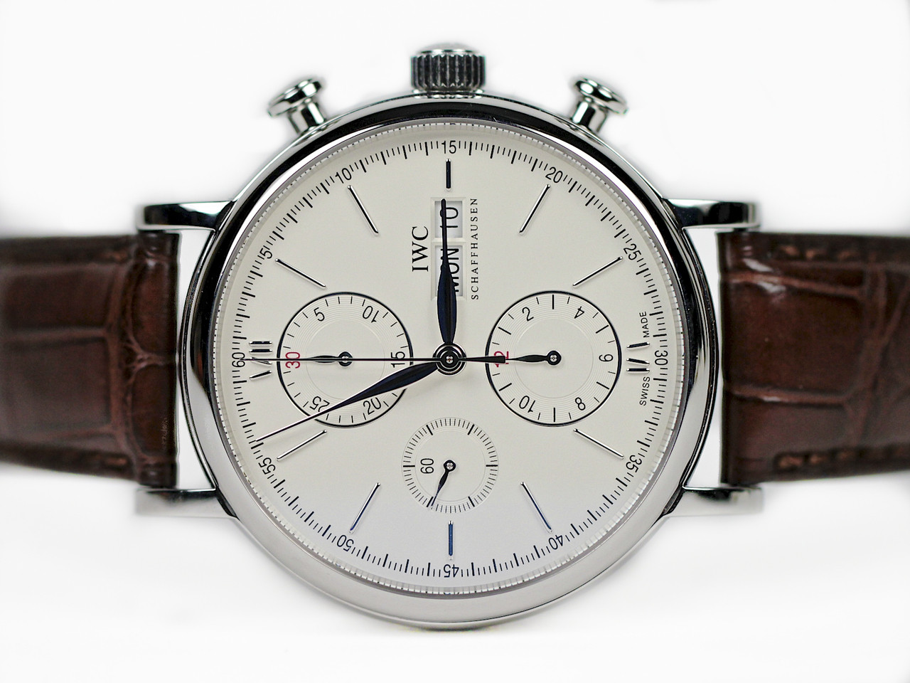 new arrivals c0ca1 26daa IWC Watch - Portofino Silver Dial Chronograph IW391007