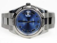 Rolex Watch - Datejust II Blue Dial White Gold Bezel Roman Numerals
