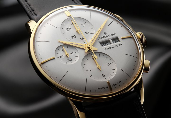 New Junghans Watch 027/7323.01 Meister Chronoscope available for sale online www.Legendoftime.com and in store at Legend of Time Chicago Watch Center