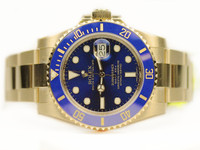 Rolex Watch - Blue 18ct Yellow Gold Submariner 116618LB Chicago Watch Center