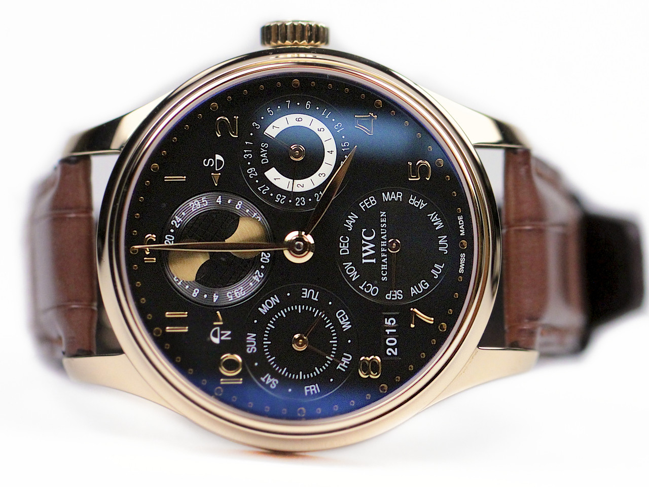IWC Watch - Portuguese Perpetual Calendar Rose Gold IW502119 - Legend of Time - Chicago Watch Center