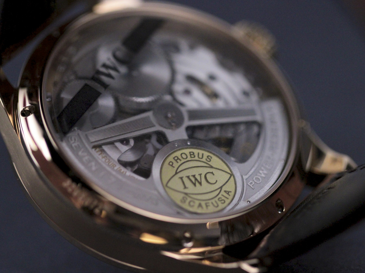 Transparent Case Back - IWC Watch - Portuguese Perpetual Calendar Rose Gold IW502119 - Legend of Time - Chicago Watch Center