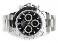 Rolex Watch - Cosmograph Daytona Steel Black Dial 116520 Used for sale online www.Legendoftime.com and in store Chicago Watch Center