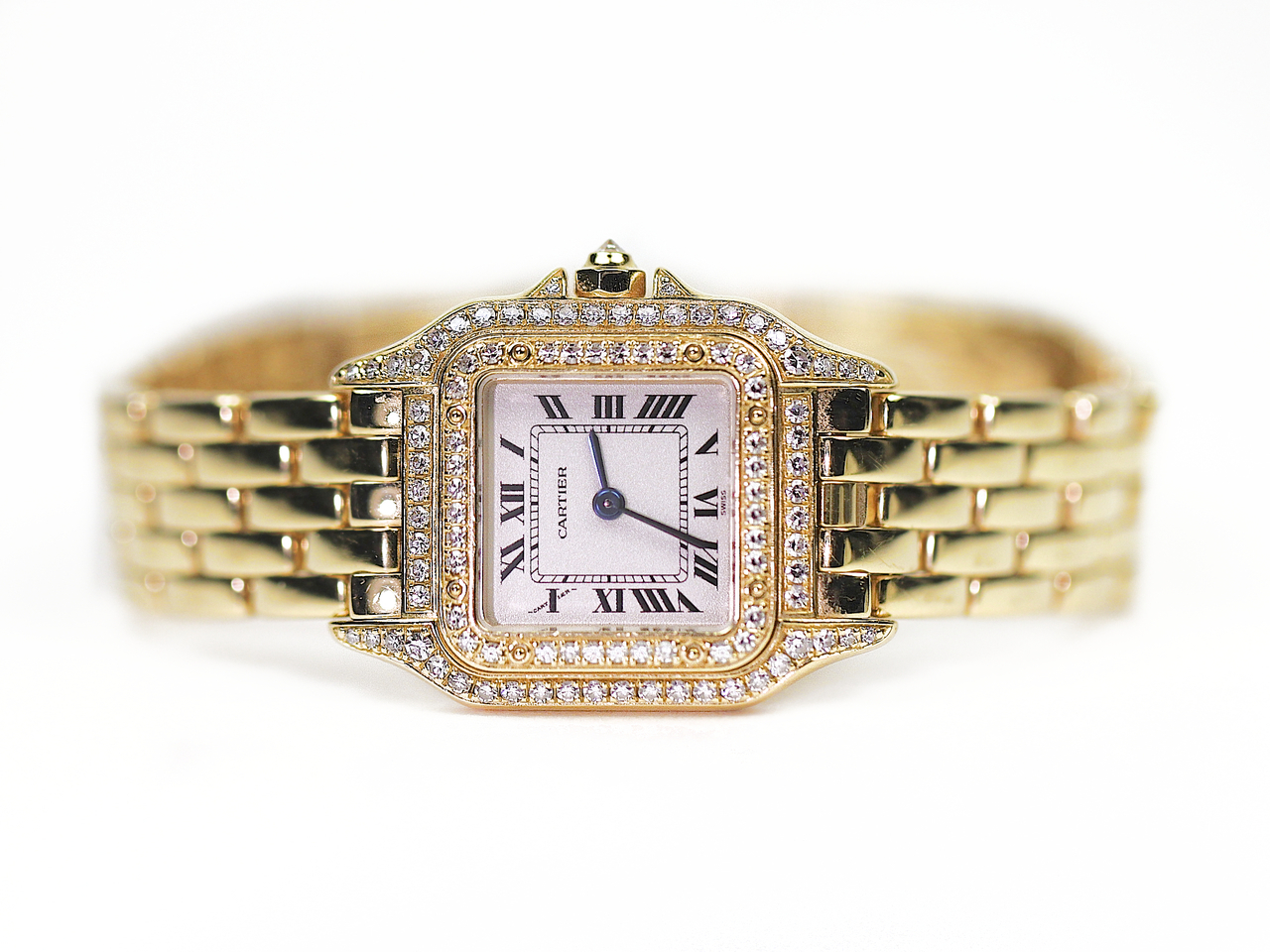 04cd865a0a4f Cartier Watch - Panther Yellow Gold Diamonds WF3072B9 used sale  www.legendoftime.com